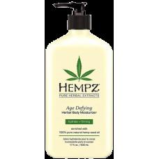 HEMPZ Age Defying Moisturizer - Молочко для тела увлажняющее Антивозрастное 500 мл