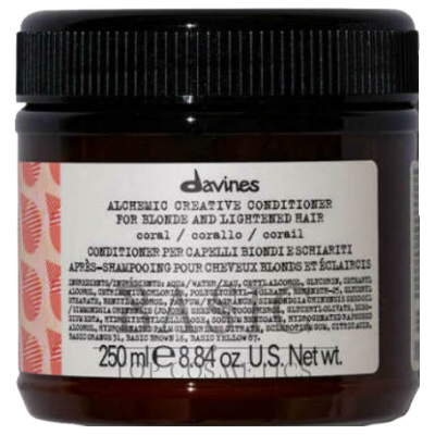 Davines Alchemic Creative Conditioner For Blond And Lightened Hair Coral