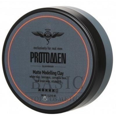 Глина моделирующая матовая сильной фиксации, для мужчин / ProtoMEN 100 мл